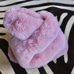 Cuddle Fluffy Babypink Tote Shopper Faux Fur