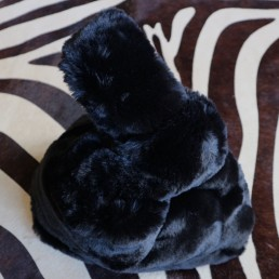 Cuddle Bag Black Zwart Camel Fluffy Tote Faux Fur