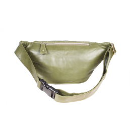 Bonny-Blue Moneybelt Millionaire Smooth Army Green back, achterkant, legergroen, groen, olijfgroen, leer