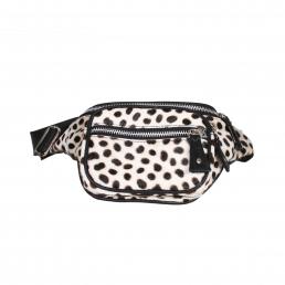 Bonny-Blue Moneybelt Millionaire Original White Cheetah front wit-zwart, wit, polka, polkadots, zwart-wit