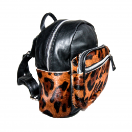 Bonny-Blue Rugzak Lill' Leopard Backpack